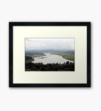 view from the Astoria Column 1 Framed Print