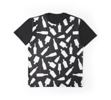 Black and White Bottles Graphic T-Shirt