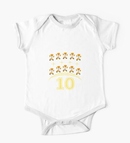 baby learns math 10 One Piece - Short Sleeve