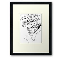 Gambit of the X-men Framed Print