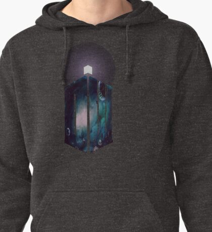 Into Space with the Tardis Pullover Hoodie