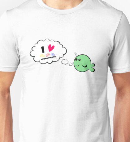 I heart neurodiversity narwhal T-Shirt