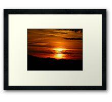 Western New York Sunset Framed Print