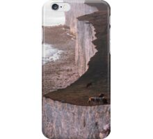 Cows on the edge of the cliff, Seven Sisters, Sussex iPhone Case/Skin