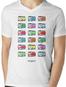Volkswagen T1 Deluxe Bus (9 colours) Mens V-Neck T-Shirt