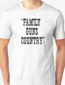 Family Guns Country (for Light Colored Products) Unisex T-Shirt