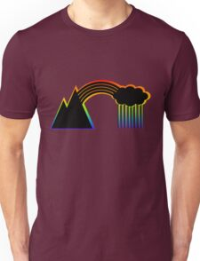 Black Rainbow (with colour shadow) Unisex T-Shirt