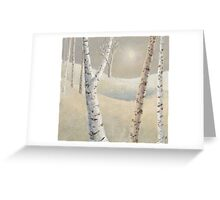 The silence of snow Greeting Card
