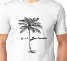 Black and White Fort Lauderdale & Palm design Unisex T-Shirt