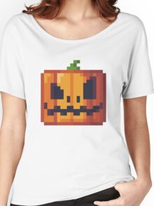 Blocky Pumpkin Women's Relaxed Fit T-Shirt