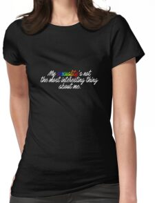 Cosima's quote Womens Fitted T-Shirt