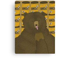 Grizzly Bear Dreams Canvas Print
