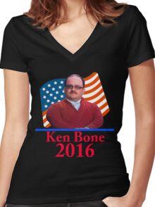 Ken Bone 2016 Women's Fitted V-Neck T-Shirt
