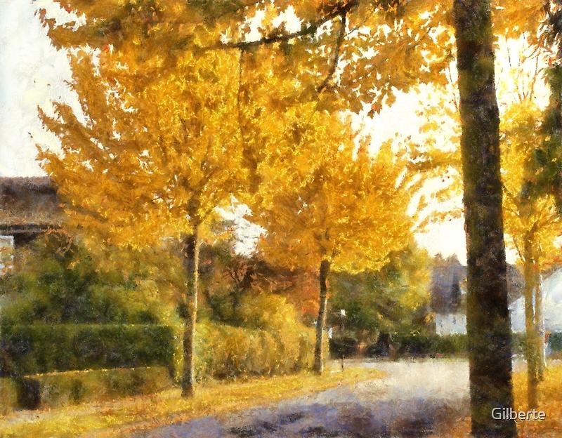 Autumn in Edegem by Gilberte