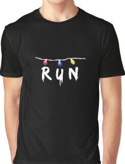 Strange Lights Run Shirt: Horror Christmas Things T-Shirt Graphic T-Shirt