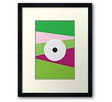Color Eye Purple and Green Framed Print