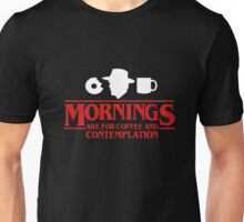 Funny Mornings Coffee Stranger Things T-shirt Unisex T-Shirt