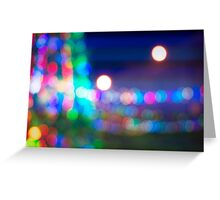 Abstract blurred background in a shape of christmas tree Greeting Card