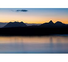 Assynt Mountains at Dawn Photographic Print