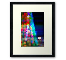 Abstract blurred background in a shape of christmas tree Framed Print