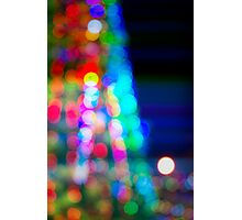 Abstract blurred background in a shape of christmas tree Photographic Print