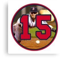 Dustin Pedroia Red Sox Canvas Print