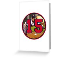 Dustin Pedroia Red Sox Greeting Card