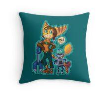 Ratchet and Clank - Destructive Duo Throw Pillow