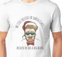 Hipster in Santa Claus Hat Unisex T-Shirt