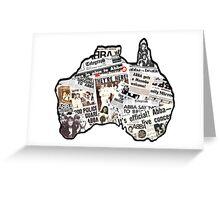 Australia succumbs to ABBA! Inspiringpeople design! Greeting Card