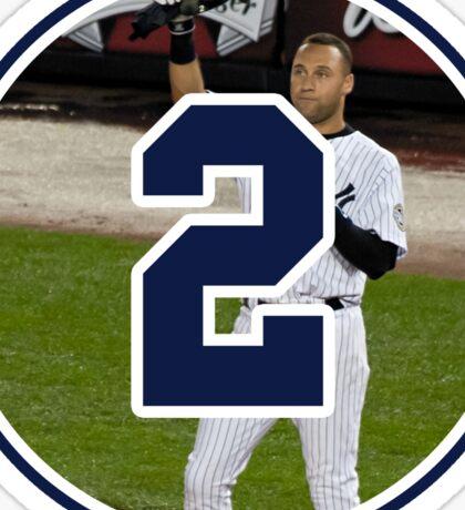 Derek Jeter Yankees Number 2 Sticker