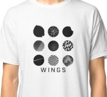 BTS- Wings All Logos Classic T-Shirt
