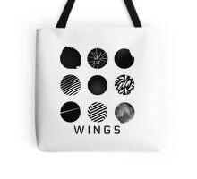 BTS- Wings - All Logos Tote Bag