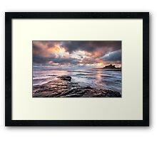 Stormy Bamburgh Sunrise Framed Print