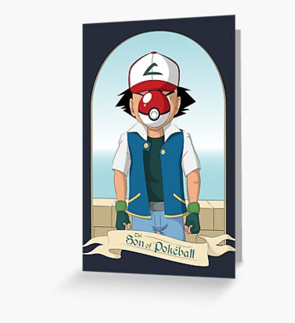 The Son of Pokeball Greeting Card