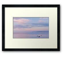 Sunset towards Godrevy Framed Print