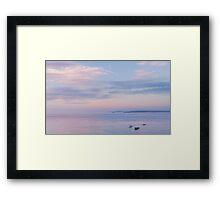 Sunset towards Godrevy Framed Print