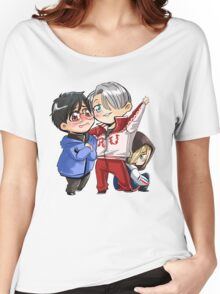 Chibi Yuri on ice!! Women's Relaxed Fit T-Shirt