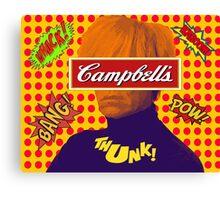 Andy Warhol Comic  Canvas Print
