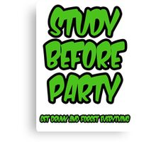 study before party Canvas Print