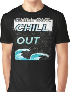 """""""Chill Out"""" Glitch VHS Aesthetic Design Graphic T-Shirt"""