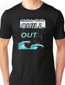 """""""Chill Out"""" Glitch VHS Aesthetic Design Unisex T-Shirt"""