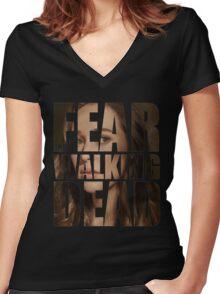 Alicia Clark Logo Women's Fitted V-Neck T-Shirt