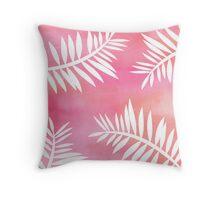 Cabana - Tropical Delight Watercolor Coral Throw Pillow
