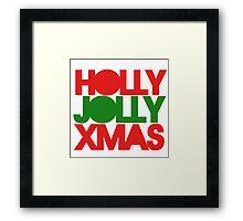 Holly Jolly XMAS Framed Print