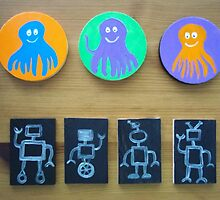 Octopi and Robots by hollycannell