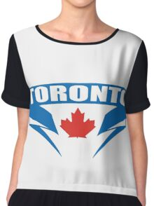 Respect Toronto Blue Jays T-Shirt - Postseason Clincher Chiffon Top