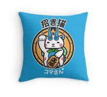 Maneki San Throw Pillow