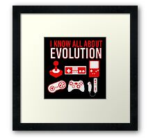 I Know All About Evolution Framed Print