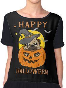 Happy Halloween For Pug Dog Lover Chiffon Top